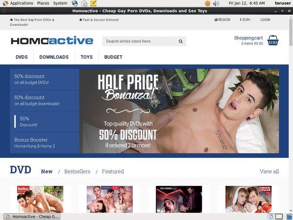 Homo Active User Name Password