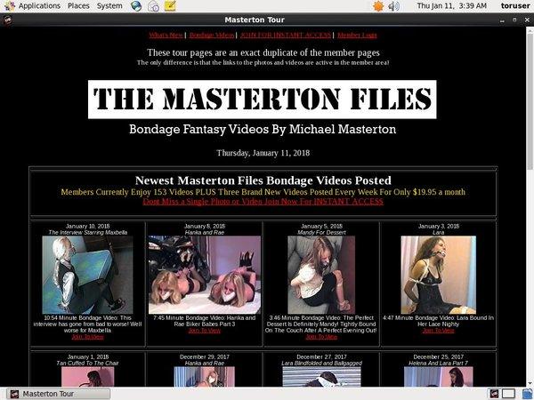 The Masterton Files Vendo